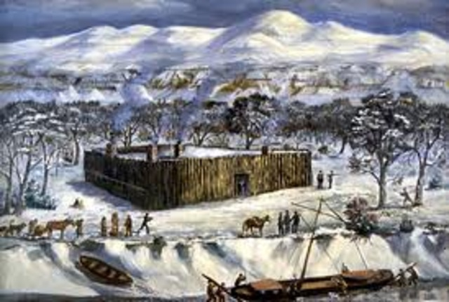 Lewis and Clark Spend the Winter at Fort Mandan