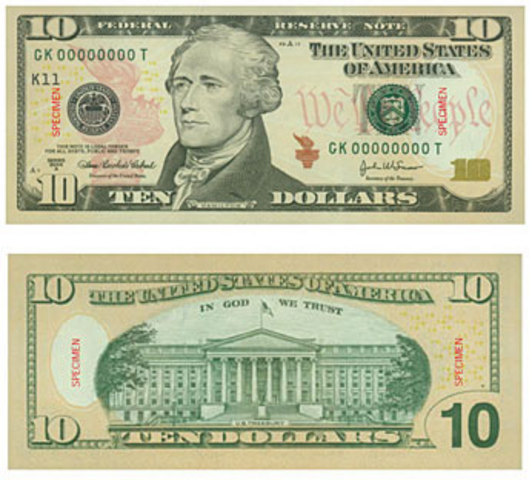New $10 Bill