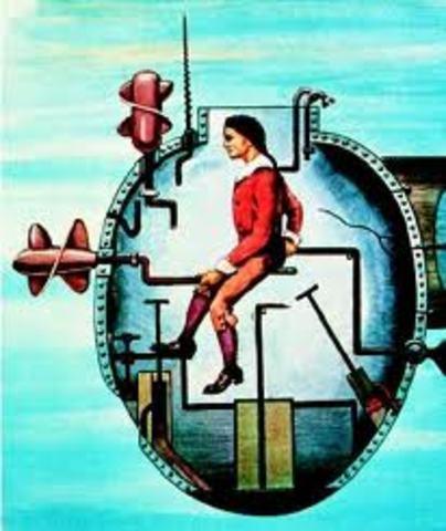 Davind Bushnell Invents the Submarine