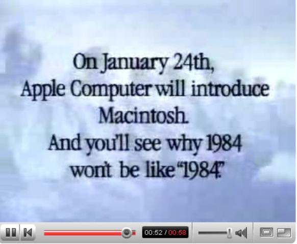 Apple's 1984 Superbowl Commercial