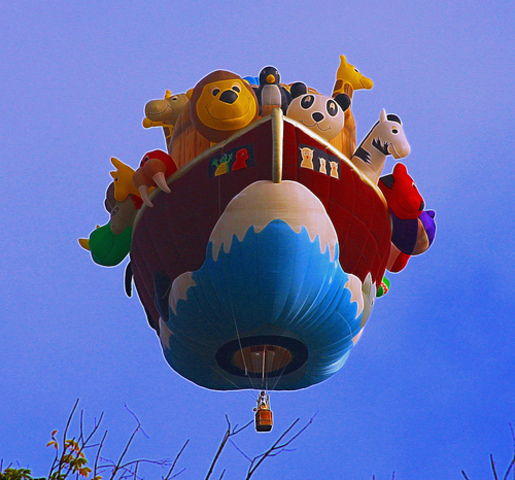 First Hot Air Balloon Demonstration With Living Animals