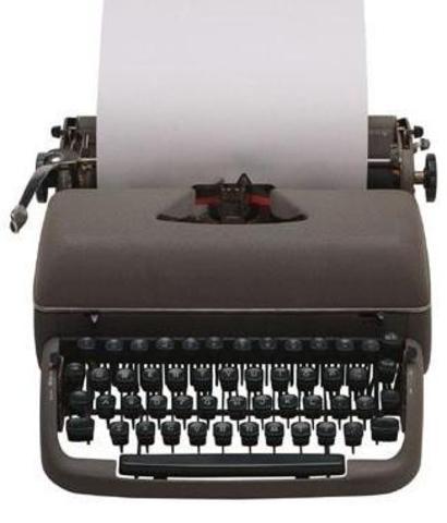 Máquinas de escribir visibles