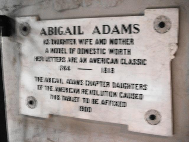 Stone of Abigail Adams