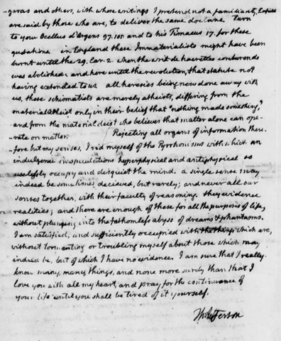 The first writing of Abigail Adams