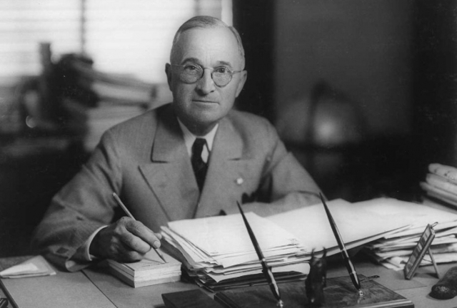 President Harry S. Truman Signs Executivue Order 9981