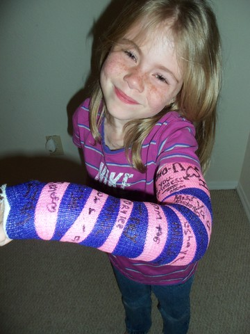 Caitlyn broke her arm   :-(