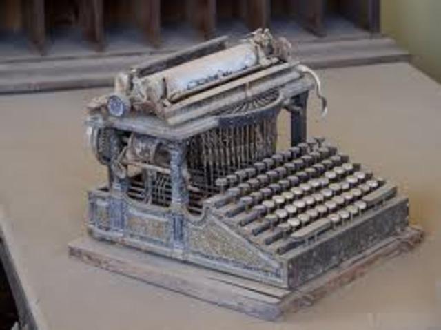 Desventaja de las maquinas de escribir
