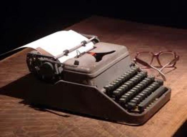 Nuevos disenos de maquinas de escribir creadas en Estados Unidos