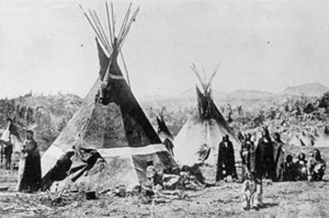 Council with Shoshone Tribe