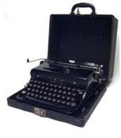 Máquinas de escribir pequeñas y portátiles