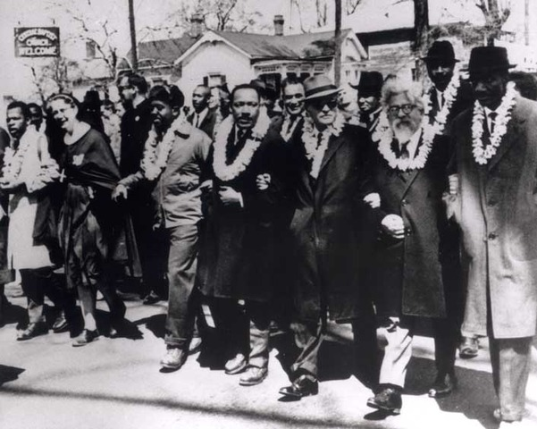Bloody Sunday. Marches in Selma Alabama