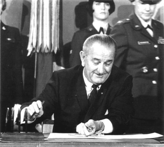 President Lyndon B. Johnson issues Executive Order 11246