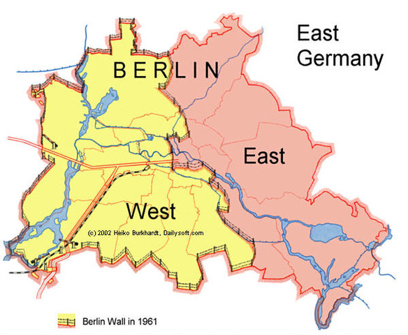 East and West Germany is divided