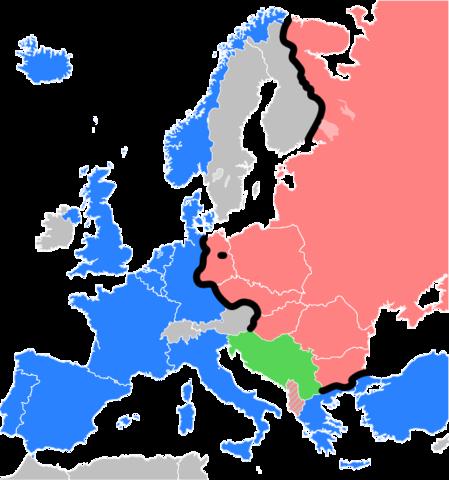 Iron Curtain Map