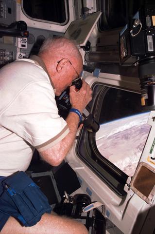 John Glenn in space