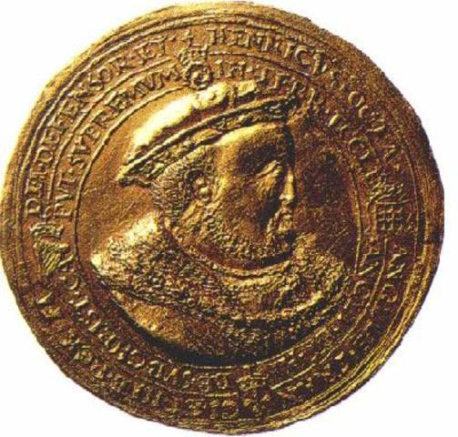 Henry VIII was declared Supreme Head of the Church of England