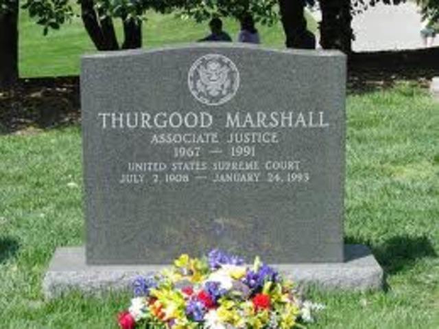 Thur good Marshall's Death