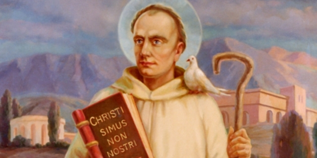 St. Columban Establishes Monasteries In Gaul