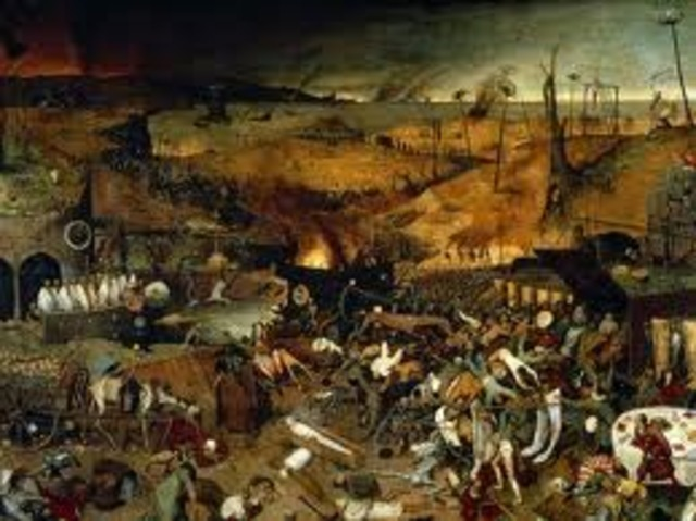 Black Death destroys the Middle East and China