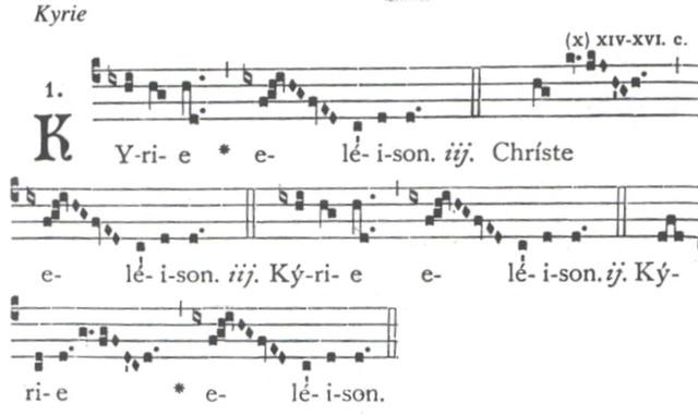 Cant gregorià amb notació quadrada