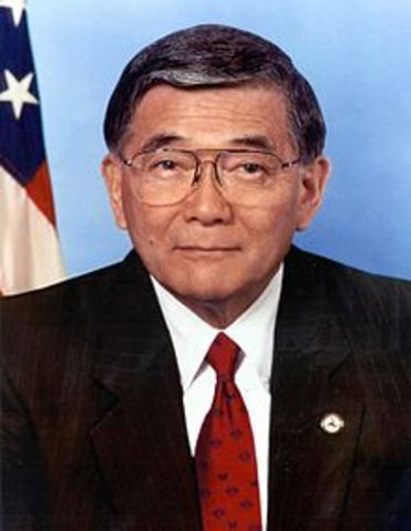 Norman Mineta as first Asian American Cabinet Member