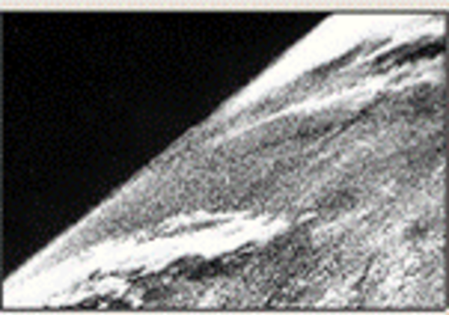 The first photo from space.