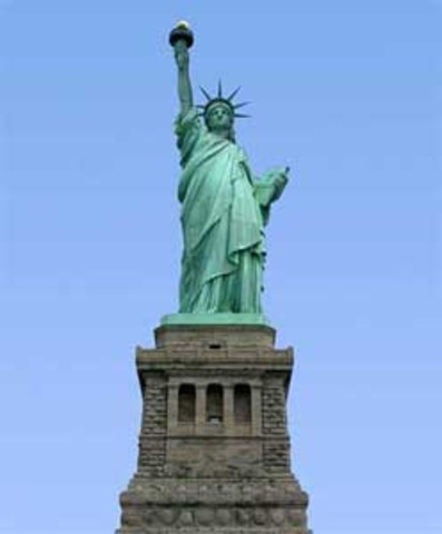 Unveiling of the Statue of Liberty