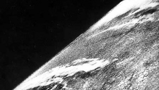 The first photo from space