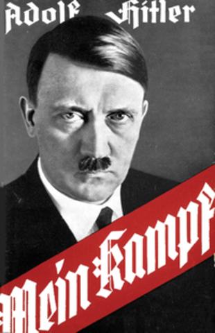 Hitler in gaol at Landau Prison. Writes Mien Kampf