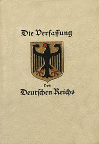 Weimar Constitution Ratified