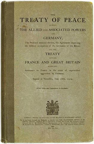 Versailles Treaty Signed