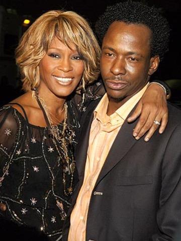 Whitney Houston ties the knot