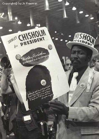Shirley Chisholm attempts becoming the First Woman and First African American to run for President on the Democratic Ticket