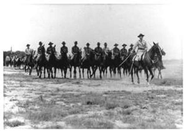 Richthofen serves as  the Uhlan cavalry on both the eastern and western fronts.
