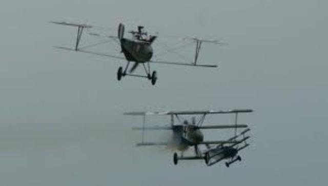 Richthofen shoots down his first plane.