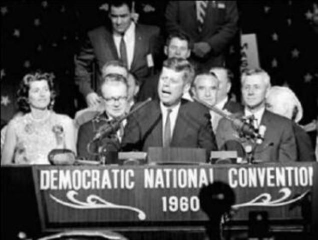 "JFK Delivers ""New Frontirer"" Speech"