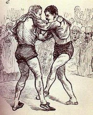 "George Washington won a ""collar and elbow"" wrestling tournament"
