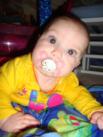 I take the pacifer for the first time.