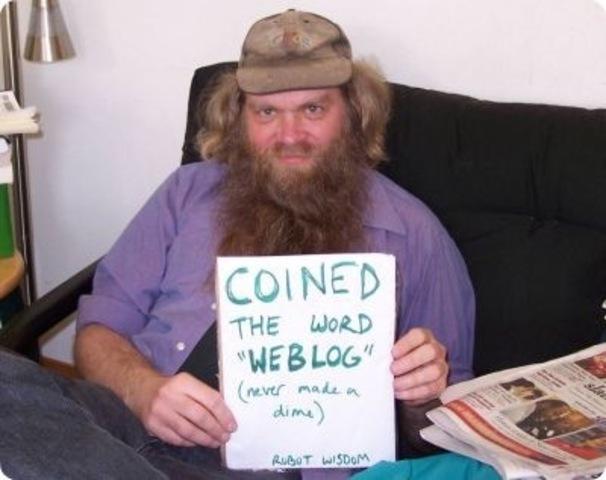 Jorn Barger coins the word 'weblog'