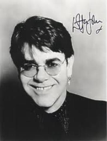 Elton John began music career