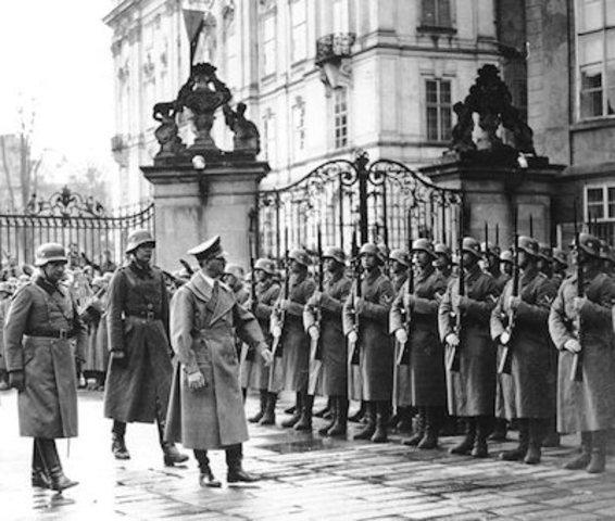 Nazis take Czechoslovakia.