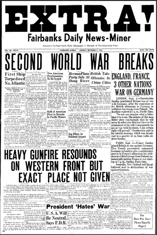 Britain, France, Australia and New Zealand declare war on Germany.