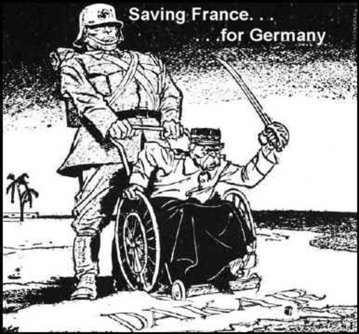 French Vichy government (controlled by Nazis) breaks off relations with Britain.