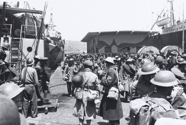 British forces arrive in Greece.
