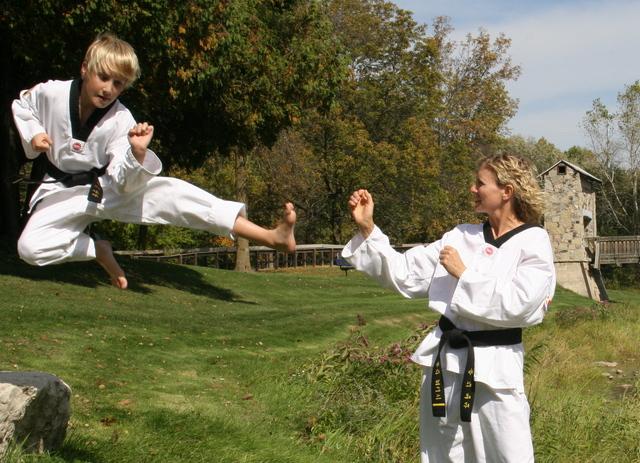 I got my black belt in Tae Kwon Do