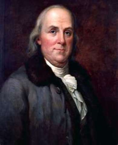 Benjamin Franklin becomes the first postmaster general under the Continental Congress
