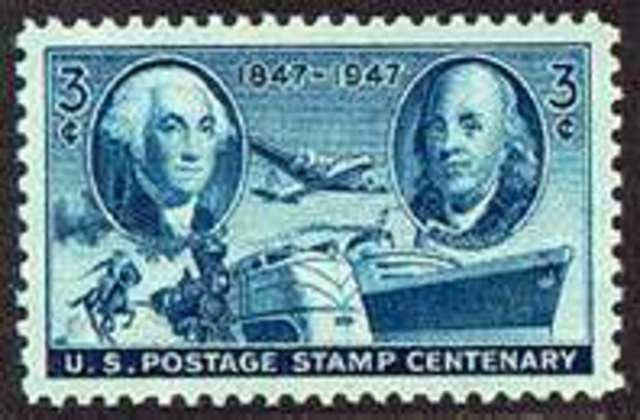 The first U.S. postage stamps are issued.