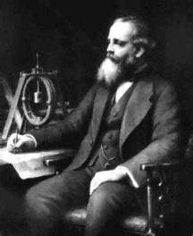 James Clerk Maxwell has the idea that radio waves exist.