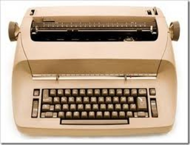 The electronic typewriter is invented