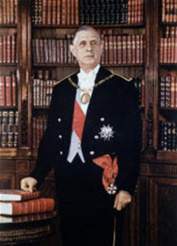 Le général de Gaulle est élu Président de la République